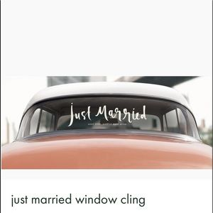 Kate Spade just married window cling